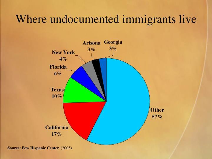 Where undocumented immigrants live
