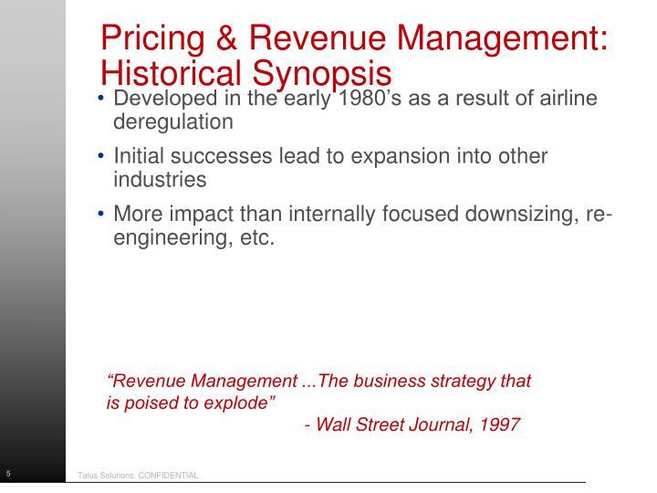 Pricing & Revenue Management: