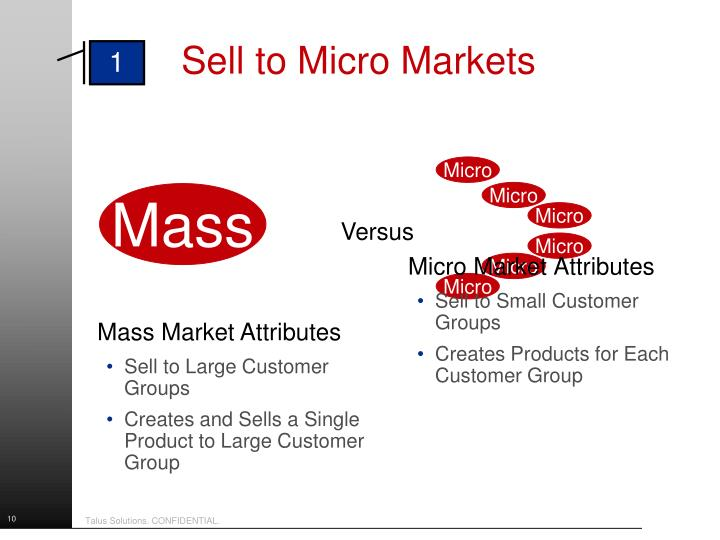 Sell to Micro Markets