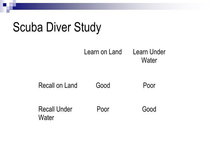 Scuba Diver Study