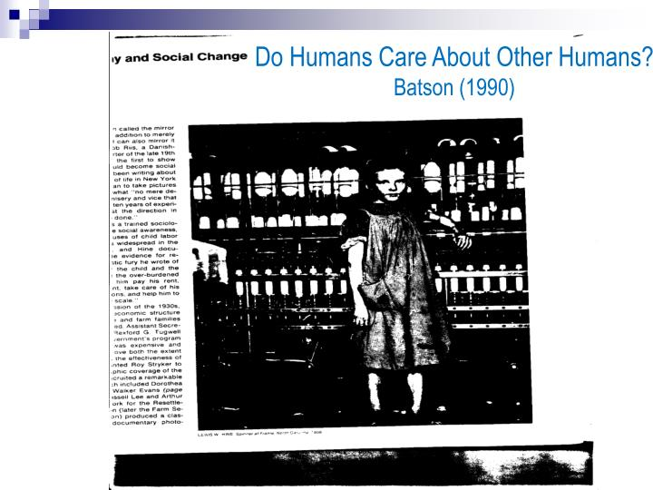 Do Humans Care About Other Humans?