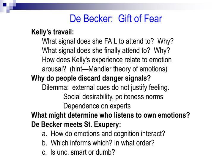 De Becker:  Gift of Fear
