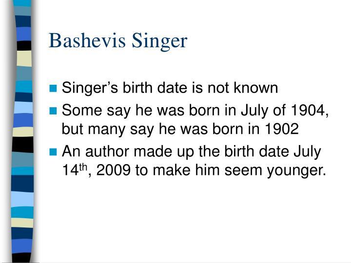 Bashevis Singer