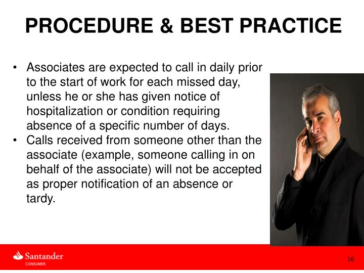 PROCEDURE & BEST PRACTICE