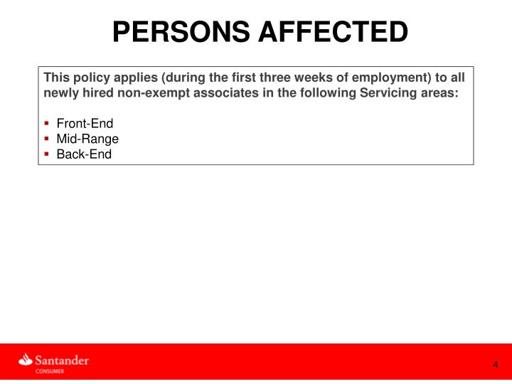 PERSONS AFFECTED