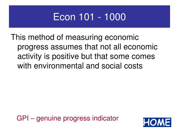 Econ 101 - 1000