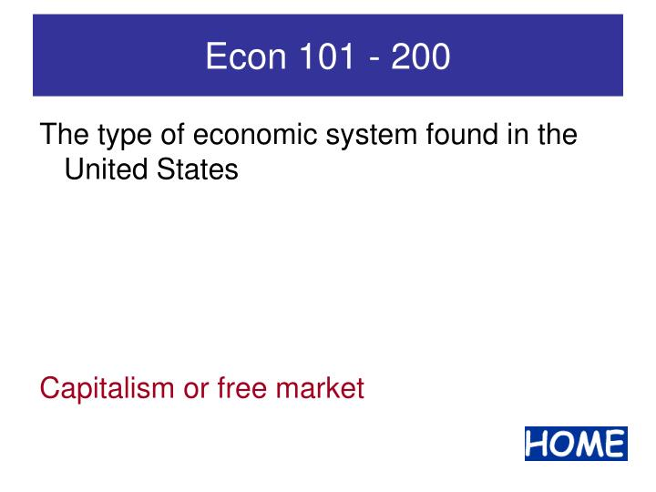 Econ 101 - 200