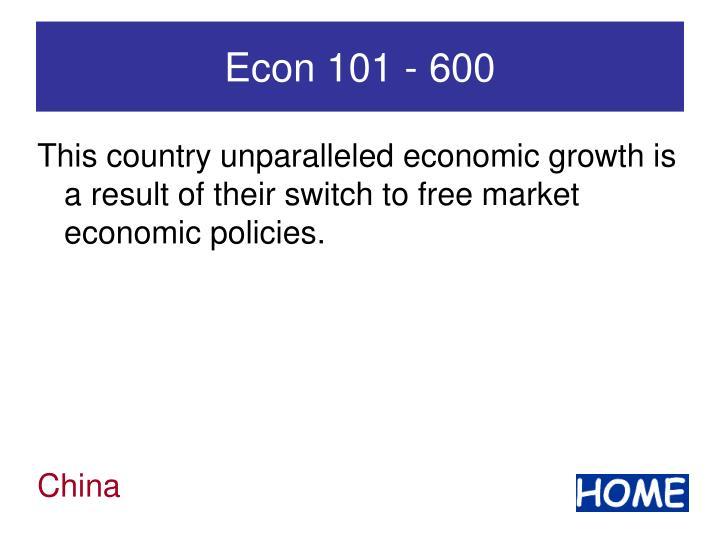 Econ 101 - 600