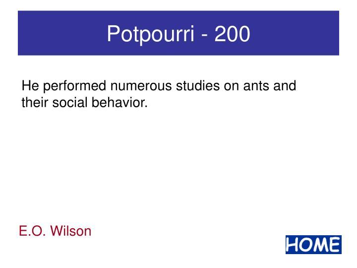 Potpourri - 200