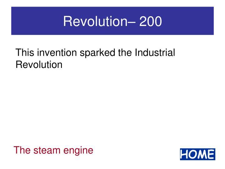Revolution– 200