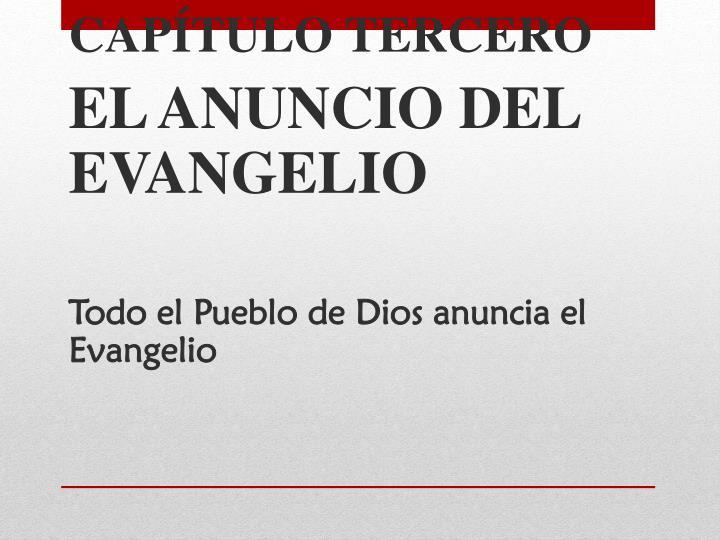 CAPÍTULO TERCERO