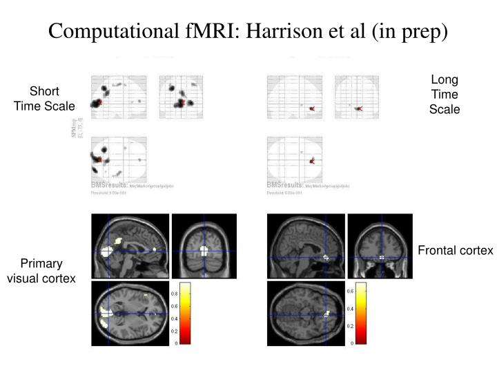 Computational fMRI: Harrison et al (in prep)