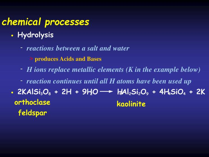 chemical processes