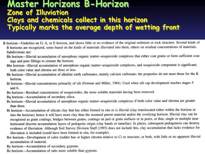 Master Horizons B-Horizon