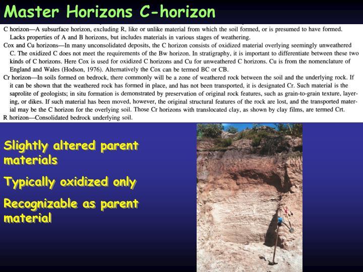 Master Horizons C-horizon