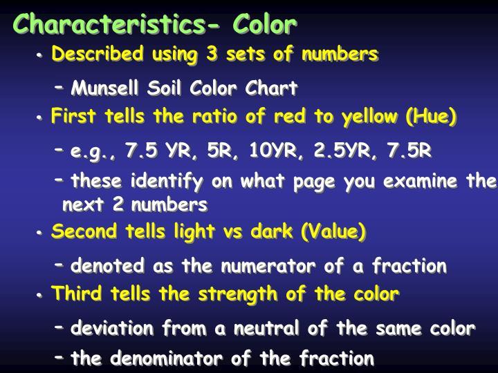 Characteristics- Color