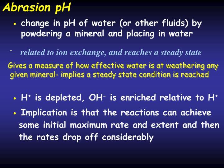 Abrasion pH