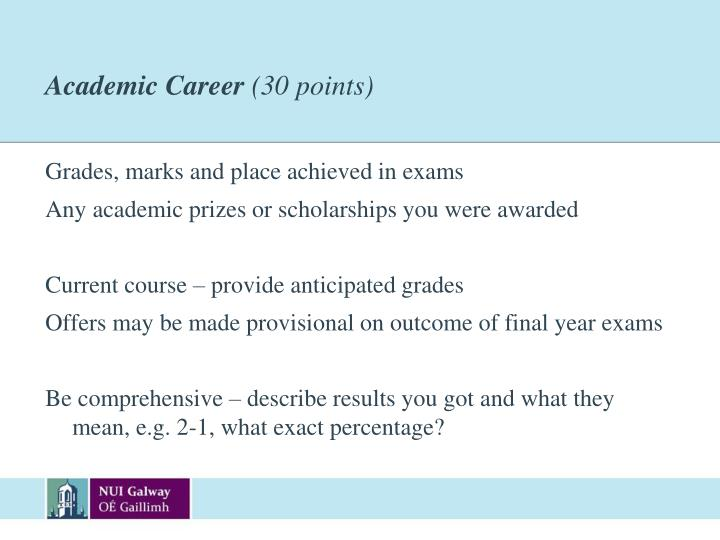 Academic Career