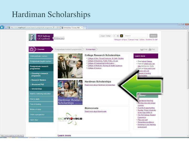 Hardiman Scholarships