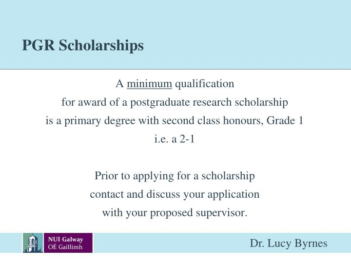 PGR Scholarships
