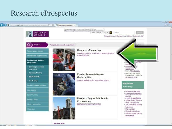 Research eProspectus