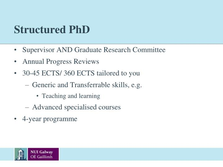 Structured PhD