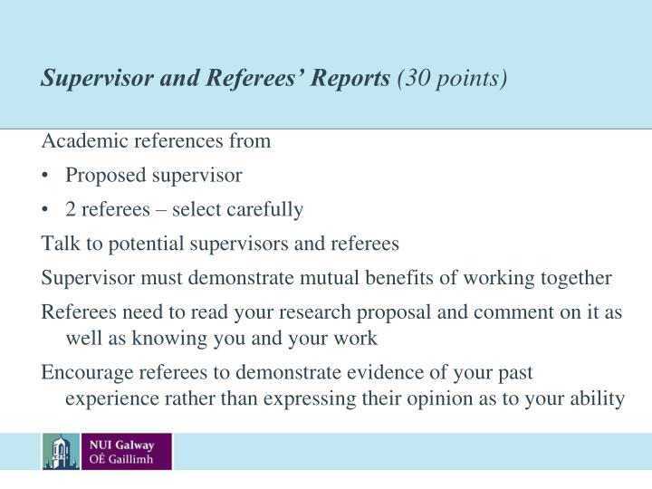 Supervisor and Referees' Reports