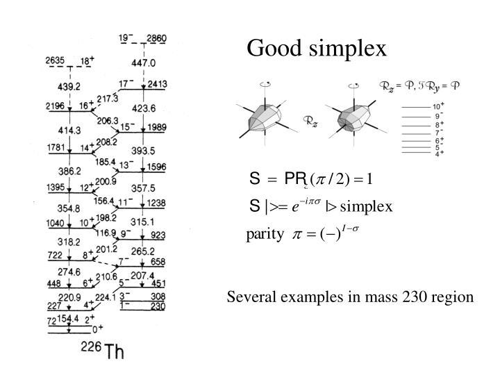 Good simplex