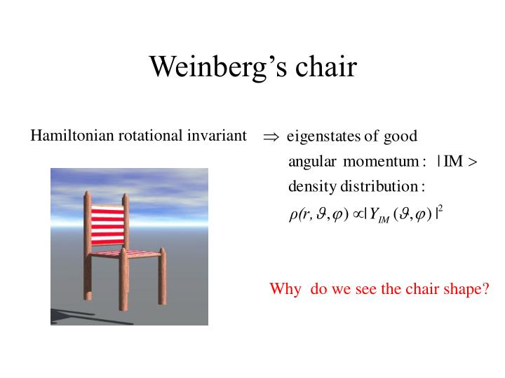 Weinberg's chair