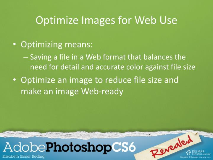Optimize Images for Web Use