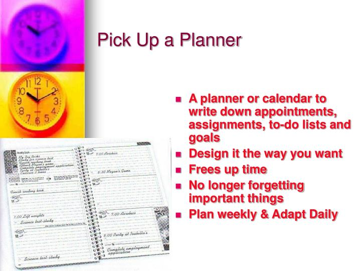 Pick Up a Planner