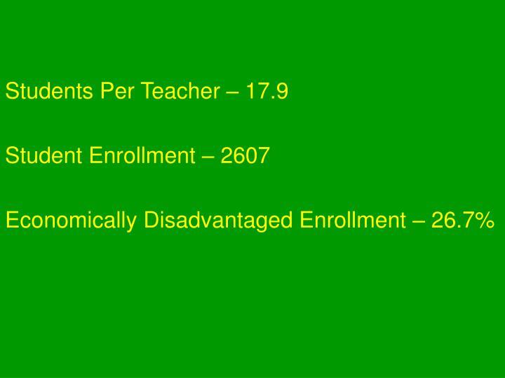 Students Per Teacher – 17.9