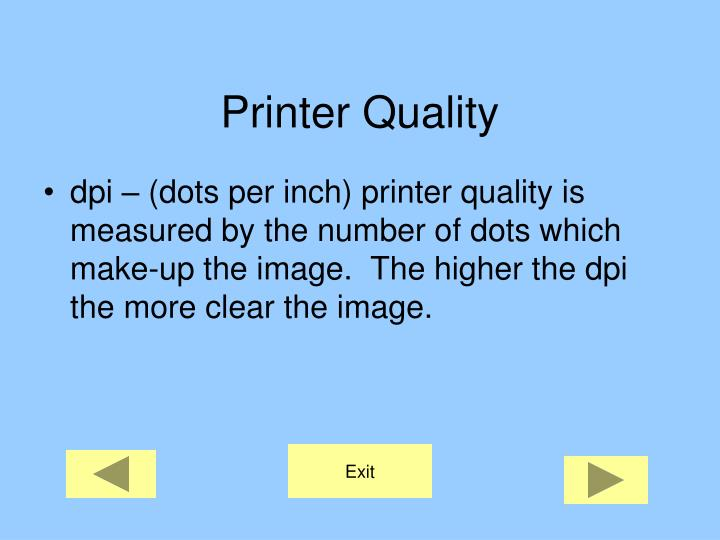 Printer Quality