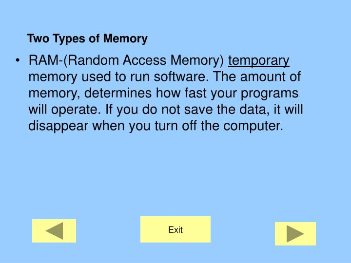 Two Types of Memory