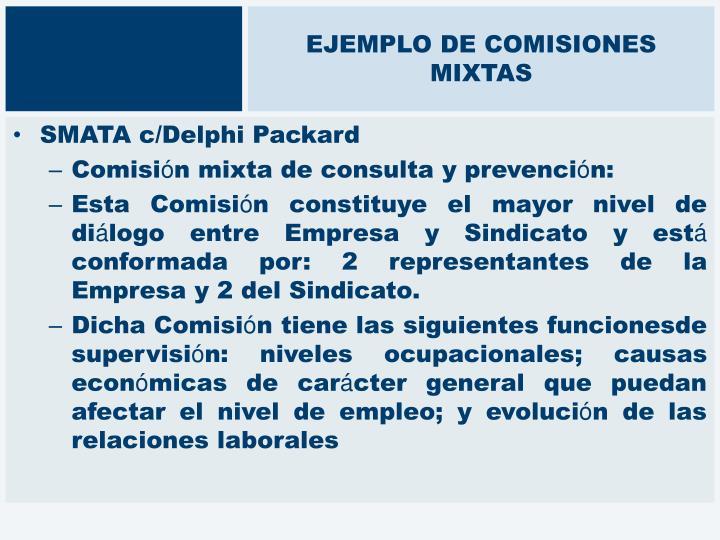 EJEMPLO DE COMISIONES MIXTAS