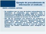 ejemplo de procedimiento de informaci n al sindicato