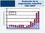 evoluci n de la negociaci n colectiva 1991 2007