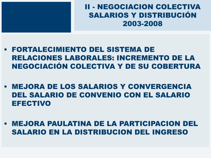 II - NEGOCIACION COLECTIVA