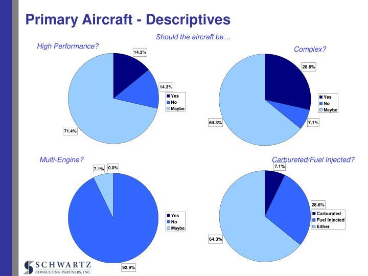 Primary Aircraft - Descriptives