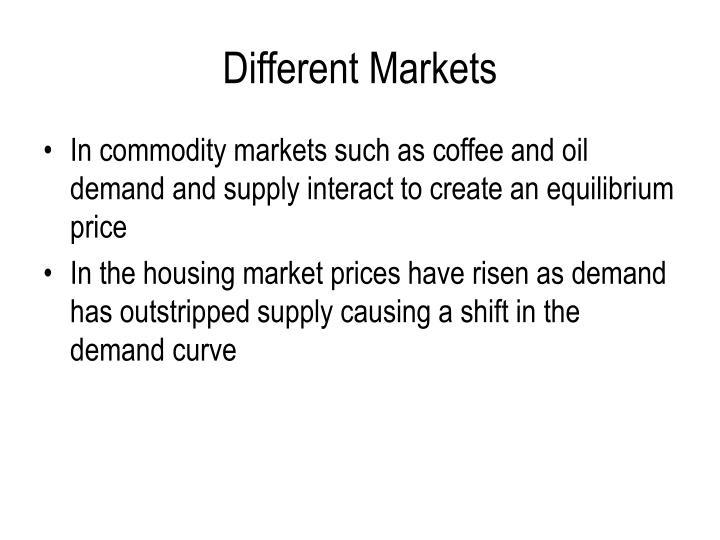 Different Markets