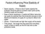factors influencing price elasticity of supply