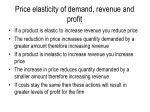 price elasticity of demand revenue and profit