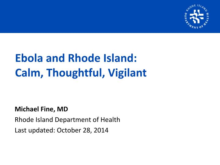 Ebola and Rhode Island: