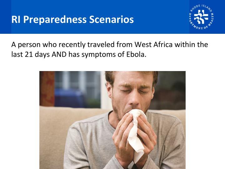 RI Preparedness Scenarios