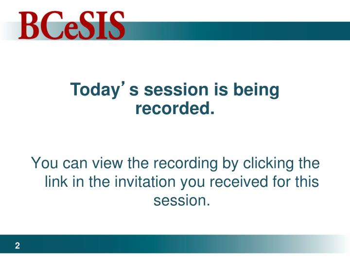 You can view the recording by clicking the link in the invitation you received for this session.