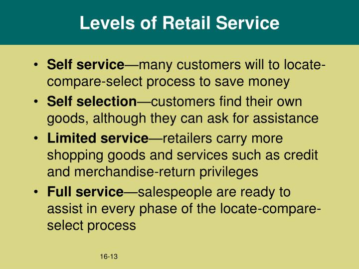 Levels of Retail Service