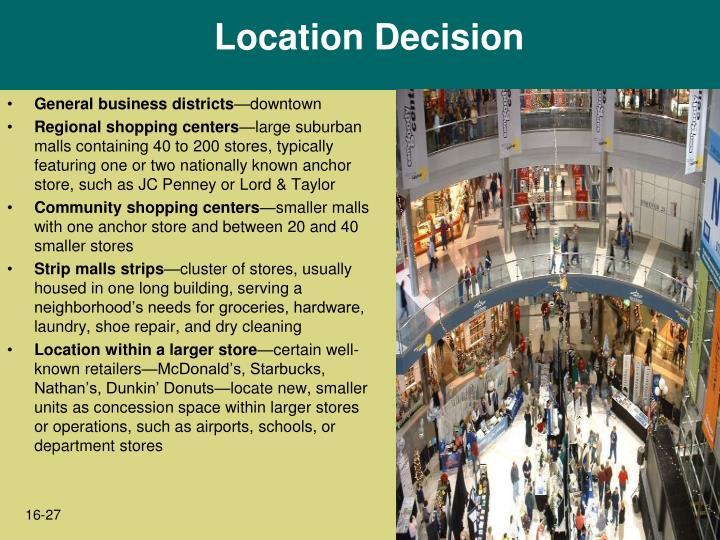 Location Decision