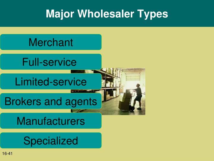 Major Wholesaler Types