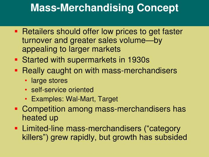 Mass-Merchandising Concept