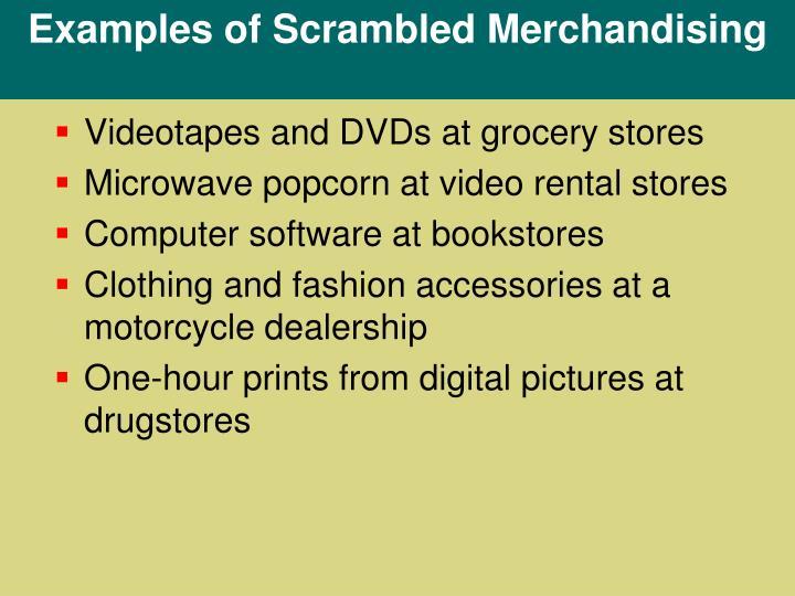 Examples of Scrambled Merchandising